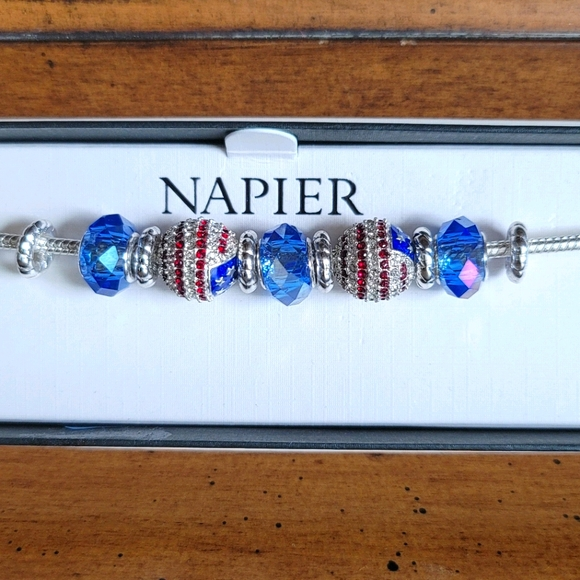 Napier USA Fourth of July Stars Stripes Bracelet